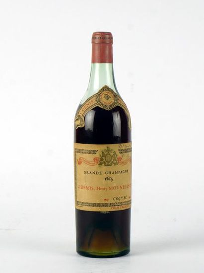 Cognac Denis-Mounie Grande Champagne 1865...