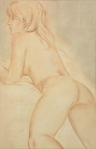 MUHLSTOCK, Louis (1904-2001) Nu allongé Pastel...