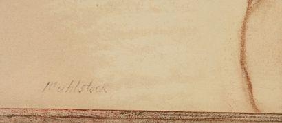MUHLSTOCK, Louis (1904-2001) Nu allongé Pastel Signé en bas à gauche: Muhlstock...