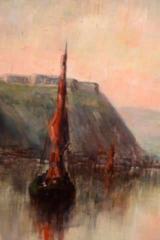 """RUSSELL, George Horne (1861-1933) """"Vue de Québec"""" Oil on board Signed on the lower..."""