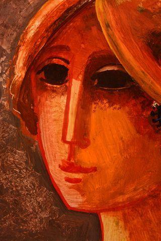 DE VILALLONGA, Jesus Carlos (1927-2018) Portrait Huile sur panneau Signée et datée...