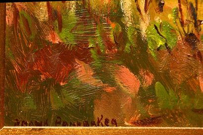 PANABAKER, Frank Shirley (1904-1992) Le retour du fermier Huile sur isorel Signée...
