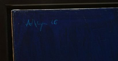 ALLEYN, George Edmund (1931-2004) Sans titre Huile sur toile Signée et datée en...