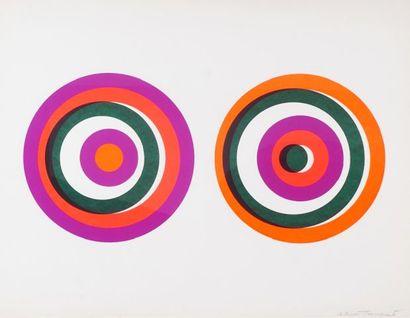 TOUSIGNANT, Claude (1932-) Cercles Lithographie...