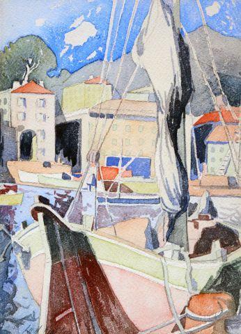 FORTIN, Marc-Aurèle (1888-1970) Voilier dans...