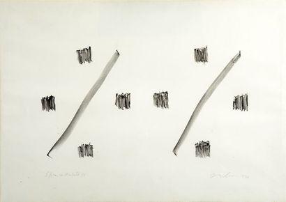 MOLINARI, Guido (1933-2004) Sans titre Lithographie...