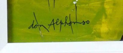 """HUDON, Normand (1929-1997) """"Don Alphonso"""" Huile sur isorel Signée et datée en bas..."""