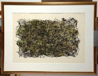 """RIOPELLE, Jean-Paul (1923-2002) """"Feuilles IV"""", 1967 Lithographie Signée en bas à..."""