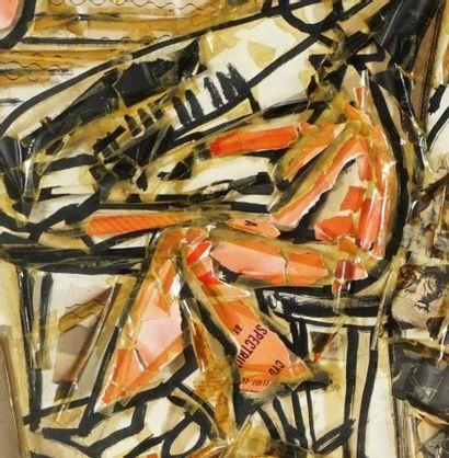 """VANSIER, Boris (1928-)  """"Chanteurs de jazz""""  Technique mixte  Signée et datée en..."""