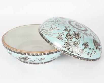 Boîte couverte « Jardin Impérial » en porcelaine...