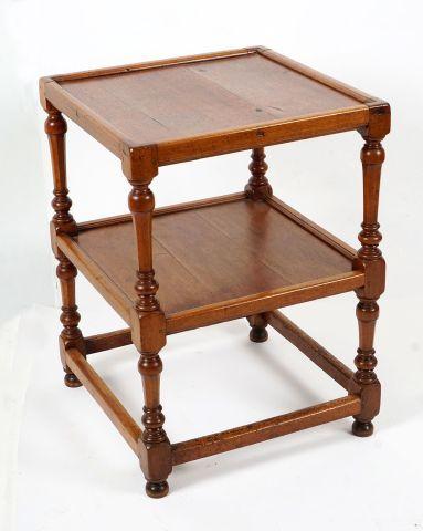 Table carrée en étagères,  bois naturel,...