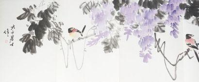 Album en acordéon: aquarelle sur papier «...