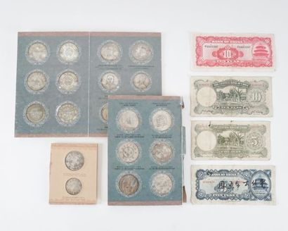 Collection de médaillons et notes militaires...