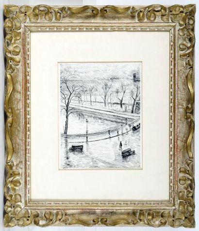 MARQUET, Albert (1875-1947)  Les quais de la Seine,1937  Gravure originale créée...