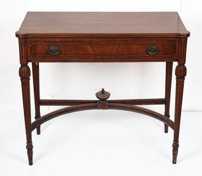 Petite table de travail en bois naturel style...