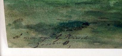 LESSORE, Jules (d 1892)  Montmartre  Aquarelle sur papier  Titrée et datée en bas...