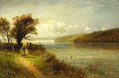 WIDGERY, William (1822-1893)  Promenade au...
