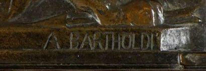 BARTHOLDI, Frédéric Auguste (1834-1904)  Le lion de Belfort  Bas-relief en bronze...