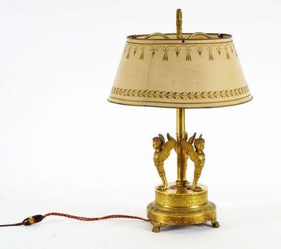 Chandelier monté en lampe bouillotte, sur...