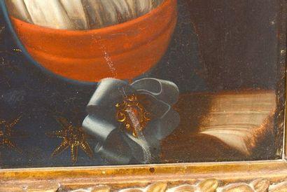 """ÉCOLE ITALIENNE XIXe  D'après DOLCI, Carlo (1616-1687)  """"Poesia""""  Huile sur panneau..."""
