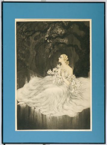 """ICART, Louis (1888-1950)  """"Lillies"""" (1934)  Eau-forte  Signée en bas à droite: L...."""