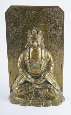Sujet en bronze, représentant le Bouddha...