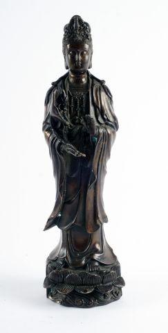 Sujet en bronze, représentant la déesse Guanyin...