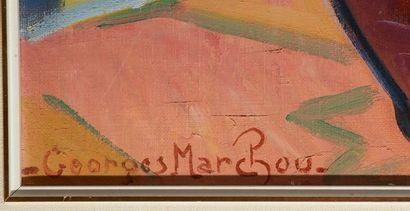 MARCHOU, Georges (1898-1984)  Nature morte  Huile sur toile  Signée en bas à gauche:...