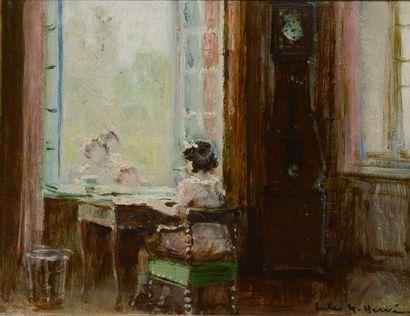 HERVÉ, Jules René (1887-1981)  Jeune fille...