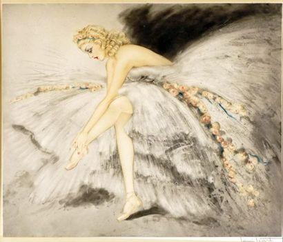 """ICART, Louis (1888-1950)  """"Fair dancer"""" (1939)  Eau-forte  Signée en bas à droite:..."""