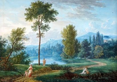BLUTEAU, Augustin (act.1793-1818)  Paysage...