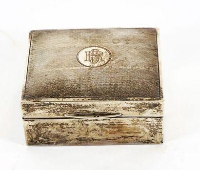 Boîte à cigarettes Mappin Webb en argent,...