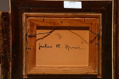 HERVÉ, Jules René (1887-1981)  Au parc, Paris  Huile sur panneau  Signée en bas...