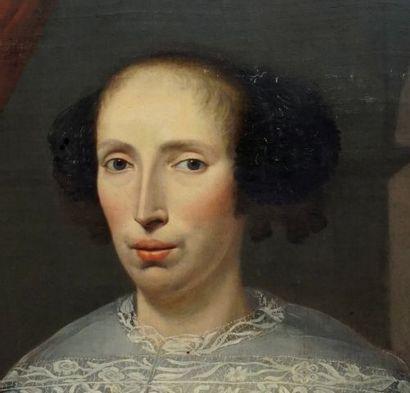 ÉCOLE EUROPÉENNE XVIIIe  Noble couple  Huile sur toile (2)    Provenance:  Collection...