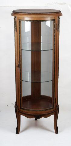 Vitrine cylindrique en bois blond    H: 143cm...