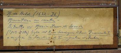ÉCOLE EUROPÉENNE XIXe  Élégante à la coiffe élaborée  Huile sur papier marouflé...