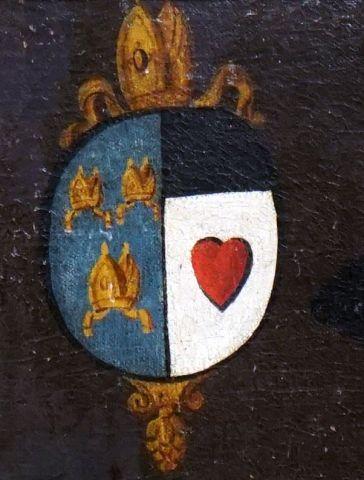 ÉCOLE EUROPÉENNE XIXe  Noble au calepin rouge  Huile sur toile    Provenance;  Collection...