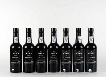 Dow's 2007  Vintage Port  Niveau A  4 bouteilles...