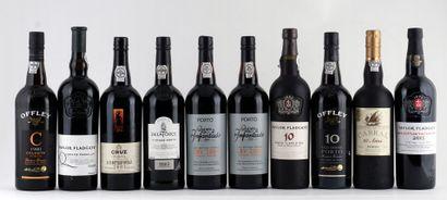 Sélection de vins de Porto comprennant:  ...