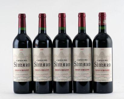 Château Simard 2000 2005 - 5 bouteilles