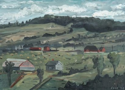 EAST, Benoit (1915-)  Paysage  Huile sur...