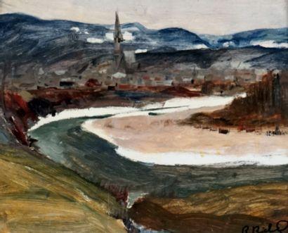 RICHARD, René Jean (1895-1982)  Village de...