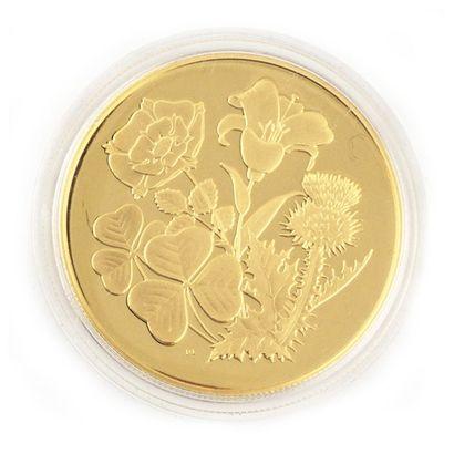 Une monnaie en or Fleurs du Canada 350 dollars,...