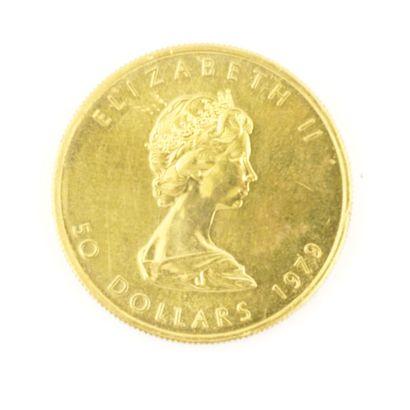 Une monnaie en or du Canada Feuille d'érable,...