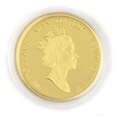 Une monnaie 200 dollars du Canada Masque...