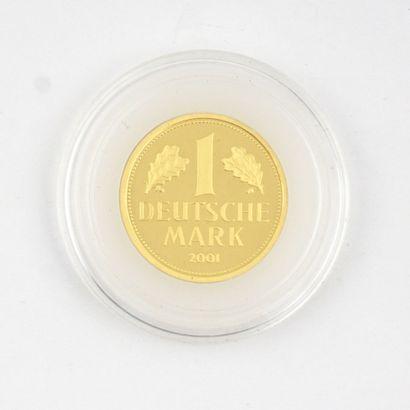 Un Deutsche Mark en or 2001