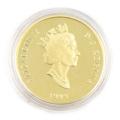 Une monnaie 100 dollars du Canada Cinquantenaire...