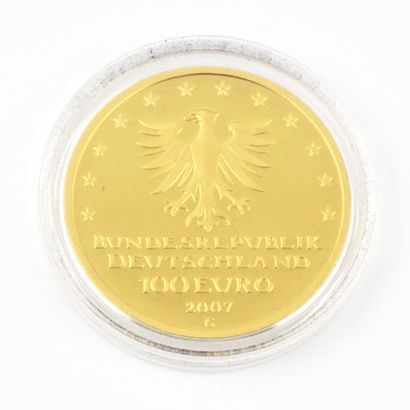 Une monnaie de 100 Euros allemand série UNESCO...