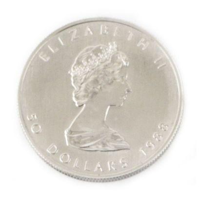 Une monnaie de 50 dollars du Canada Feuille...