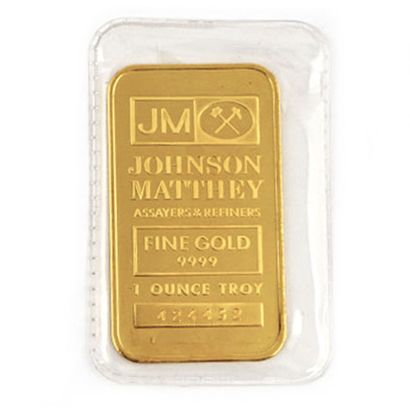 1 once Troy d'or pur 9999 Johnson Matthey...